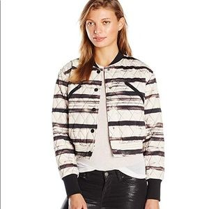 KENDALL + KYLIE Printed Quilted Bomber Sz Small!